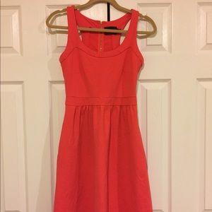 Cynthia Rowley neon coral neoprene racerback dress